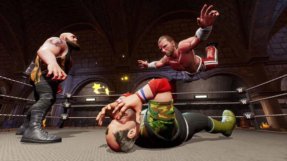 WWE 2K BG Big Show vs HBK vs Sgt Slaughter