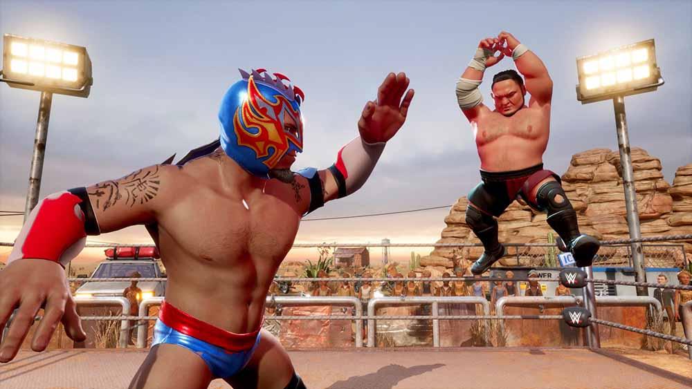WWE 2K BG Kalisto vs Samoa Joe